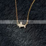 Stainless Steel Small Size Interchangeable Gold Shark Pendant Necklace