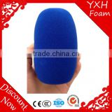 Factory direct fasion sale microphone shaped sponge cover microphone foam windscreens
