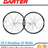 "New mtb oem 29"" 35mm wide 25.5mm depth tubeless clincher bike carbon wheels"