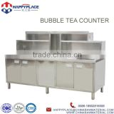 INquiry about bubble tea counter design , stainless steel bubble tea work top, bubble tea furniture