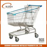 stainless steel medical unfoldable electric shopping trolley cart(America style)