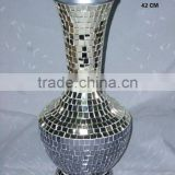 Glass mosaic on Iron Vase for flowers