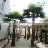 SJ2017200008 hot sale outdoor decorative artificial Washington plastic palm tree uv anti