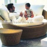 outdoor rattan lounge/rattan sun lounge/leisure lounge