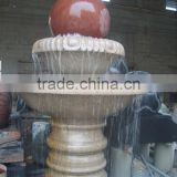 Outdoor stone ball water fountain