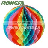 Color Paper Ball Lantern Garland Festival Decoration
