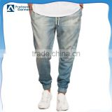 OEM service custom new fashion vintage denim biker jeans trousers for men 2016