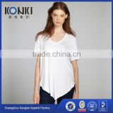 Wholesale blank bamboo t shirt women clothing 2017