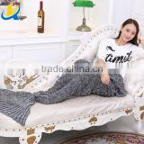 high quality knitted mermaid tail blanket crocheted mermaid fish tail blanket with scales