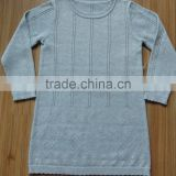 100% cotton girl's Diamond Pattern Sweater,crew neck diamond Pattern Sweater for girl(DSC01458)