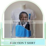 100% polyester Customized printed cheapest Presidential vote T-shirt 100g promotional t shirts Election T shirts OEM