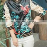 Runwaylover EY0981C fashion custom digital print baseball autumn winter woman jacket floral