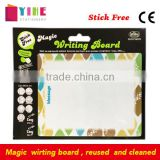 PET magic writing board reuse and cleanable office message board stick free planner board children drawing board