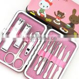 Cartoon Nail Clipper Kit Nail Tools Nail Care Scissor Tweezer Knife Ear pick Manicure Set Tools Case