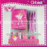 diary and hair accessory set