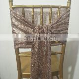 Graceful Popular High Quality Rose Gold Sequin Chair Sash