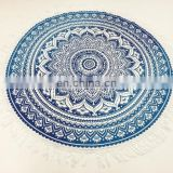 Indian Roundie Round Pom Pom Mandala Hippie Tapestry Beach Throw Towel Yoga Mat Bohemian Art