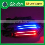 Latest Zipper led waistband sport led belt with phone bag led reflective light waistband bag