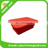 Red folding Silicone food bowls for microwave oven