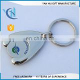 Enamel trolley keychain coin for supermarket trolley coin