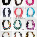 Polyester short scarves with magnetic button collar scarves jewelry customized fashionable scarf