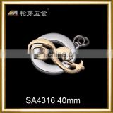 Custom metal brand tag label wholesale for handbag in china