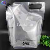 5L The liquid stand up composite bag of the spout seal/Food-grade composite storage bag for milk tea powder and Coffee Powder