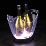 Stainless Steel Double Wall Ice Bucket for 6 Champagne Bottles8L Boat Shape LED Ice Bucket  LED Ice Bucket   beer ice bucket for sale  champagne ice bucket