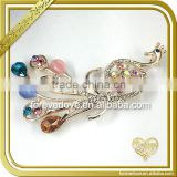Crystal brooch Large crown inlay rhinestone brooch lovely Peacock brooch FB054