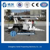 Welcomed in South America ! High Efficiency HF120W Trailer Hydraulic Portable Water Well Drilling Equipments