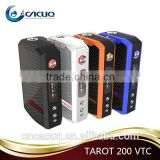 CACUQ authentic 2 18650 batteries OLED display screen Vaporesso TAROT 200W VT/VW Box MOD