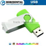 Promotional colorful swivel usb stick with gift box
