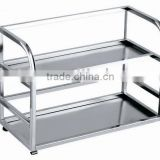 Stainless steel kitchen rack kitchen shelf 2 tiers JKD202A