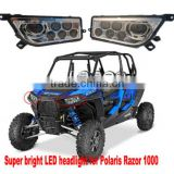 Best price LED Headlight for 2014 Polaries RZR XP 4 1000 EPS ATV UTV parts
