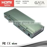 New Style 1x4 HDMI 1.4v Splitter Amplifier 1 in 4 out