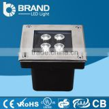 IP67 RGB Waterproof Outdoor 4x1W Square CE Rohs LED Inground Light