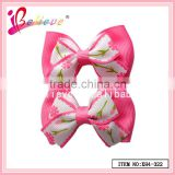 Beautiful hair accessories wholesale mini bow tie hair clip,grosgrain ribbon hair bows jewelry