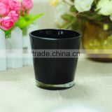 wholesale black candle jars, glass candle cup , candle holder formaking candles                                                                                                         Supplier's Choice