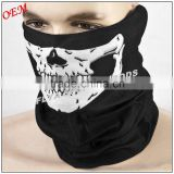 OEM custom Black Skull bandana Face Mask - Tubular Bandana Headwear                                                                         Quality Choice