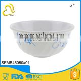 Melamine bowls for rice and soup, embossed surface, FDA standard