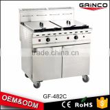 restaurant kitchen equipment gas chips deep fryer gas chicken pressure fryer chinese manufacturers GF-482/C