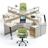 Top sales Modern Glass Partition 4-seat Office Workstation Call center cubicle ( SZ-WS405)