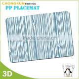 2015 waterproof Customized printed clear plastic placemat
