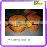 Delicious chocolate round paper box packaging , paper box gift box packaging box with silk handle