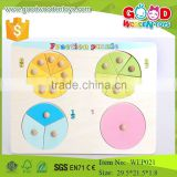 hot new products for 2015 circle fraction puzzle kids preschool educational puzzle