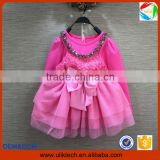 2016 Manufacturer new spring lace children dress wholesale flower girl dress for boutique frock design kid dress (ulik-GD119)