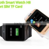 Bluetooth Smart Watch H8 5.0MP Camera Stainless Steel Support SIM TF Card