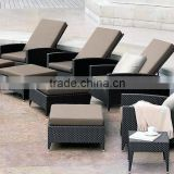 Space Saving Outdoor Furniture Designs Patio Furniture Sun Lounger with Ottoman                                                                         Quality Choice