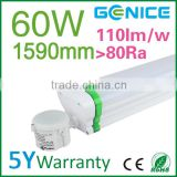 60w 1500mm led waterproof t8 tri proof fluorescent light fixture with motion sensor/dimming