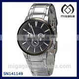 Wholesale Black Dial Alloy Band Men's Sport Wrist Watch Cheap Alloy Sport Watch For Men